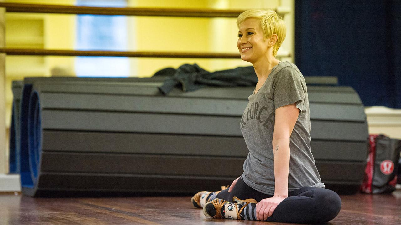 Dancing With The Stars season 16 cast member Kellie Pickler rehearses ahead of the premiere on March 18, 2013. <span class=meta>(John LeMay)</span>