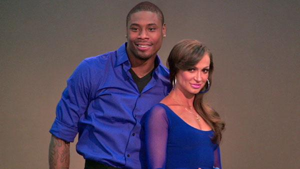 Jacoby Jones gets silly with Karina Smirnoff