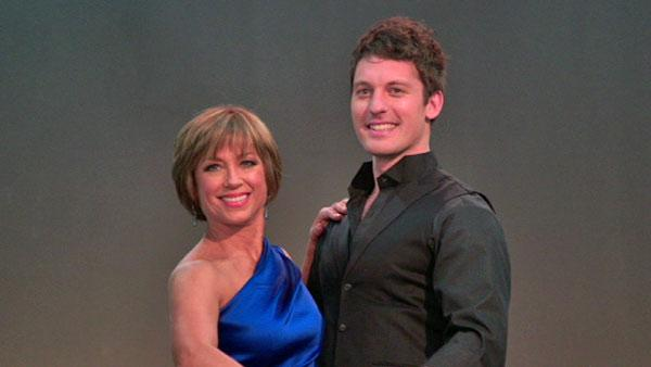 Dorothy Hamill poses for photos with Tristan Macmanus