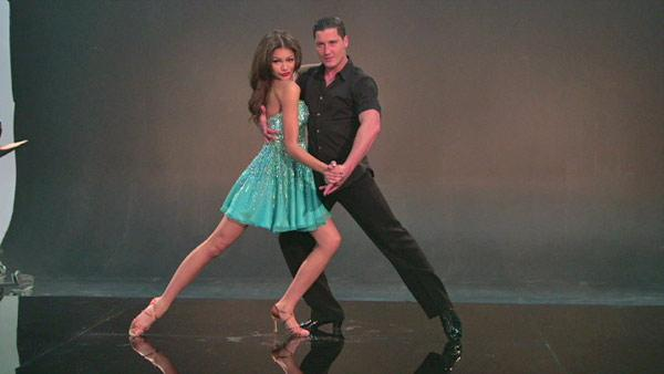 Zendaya Coleman and partner Val Chmerkovskiy appear a photo shoot for 'Dancing With The Stars' season 16 in March 2013.