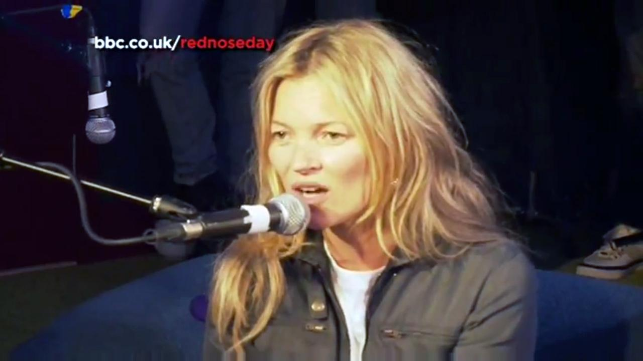 Kate Moss appears in a BBC Radio 1 video from March 14.