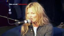 Kate Moss appears in a BBC Radio 1 video from March 14. - Provided courtesy of youtube.com/bbcrad