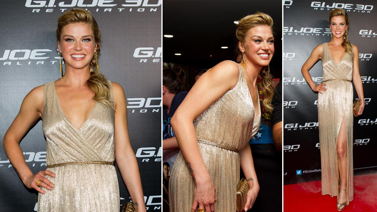 Adrianne Palicki arrives at G.I.Joe: Retaliation Australian premiere at Event Cinemas George Street on March 14, 2013 in Sydney, Australia.