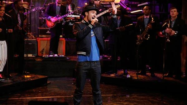 Justin Timberlake appears on Late Night with Jimmy Fallon on March 13, 2013. - Provided courtesy of NBC