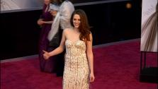 Kristen Stewart walks the red carpet at the 2013 Oscars on Sunday, February 24. - Provided courtesy of OTRC
