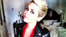 Miley Cyrus appears in a photo from her Twitter page on Feb. 13, 2013. - Provided courtesy of twitter.com/mileycyrus