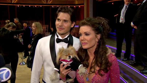 Dancing With The Stars contestant Lisa Vanderpump of The Real Housewives of Beverly Hills speaks after the season 16 premiere of the ABC show on March 18, 2013. - Provided courtesy of OTRC
