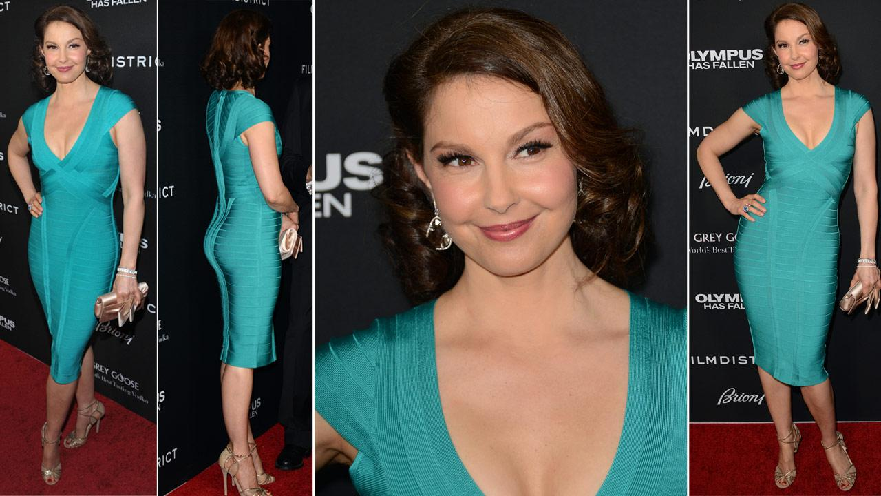 Ashley Judd poses at the LA premiere of Olympus Has Fallen at the ArcLight Theatre on Monday, March 18, 2013 in Los Angeles.