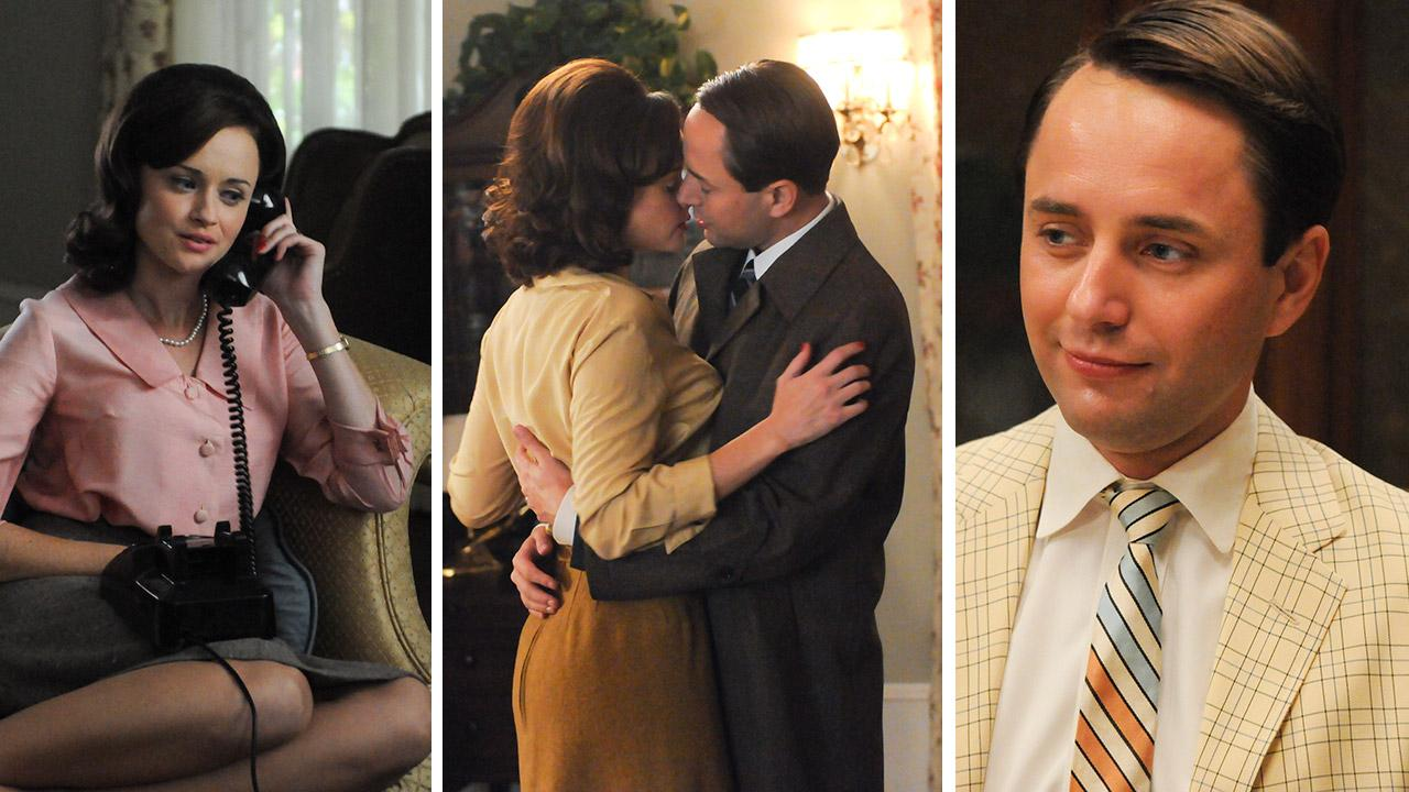 Vincent Kartheiser and Alexis Bledel appear in 2012 episodes of the AMC show Mad Men.Michael Yarish / AMC