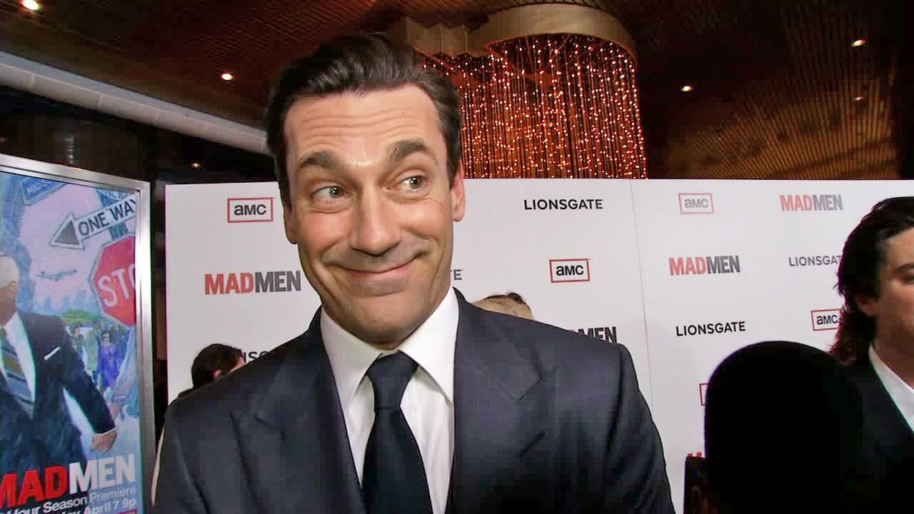 Jon Hamm talks to OTRC.com at the premiere of Mad Men season 6 in Los Angeles on March 20, 2013.