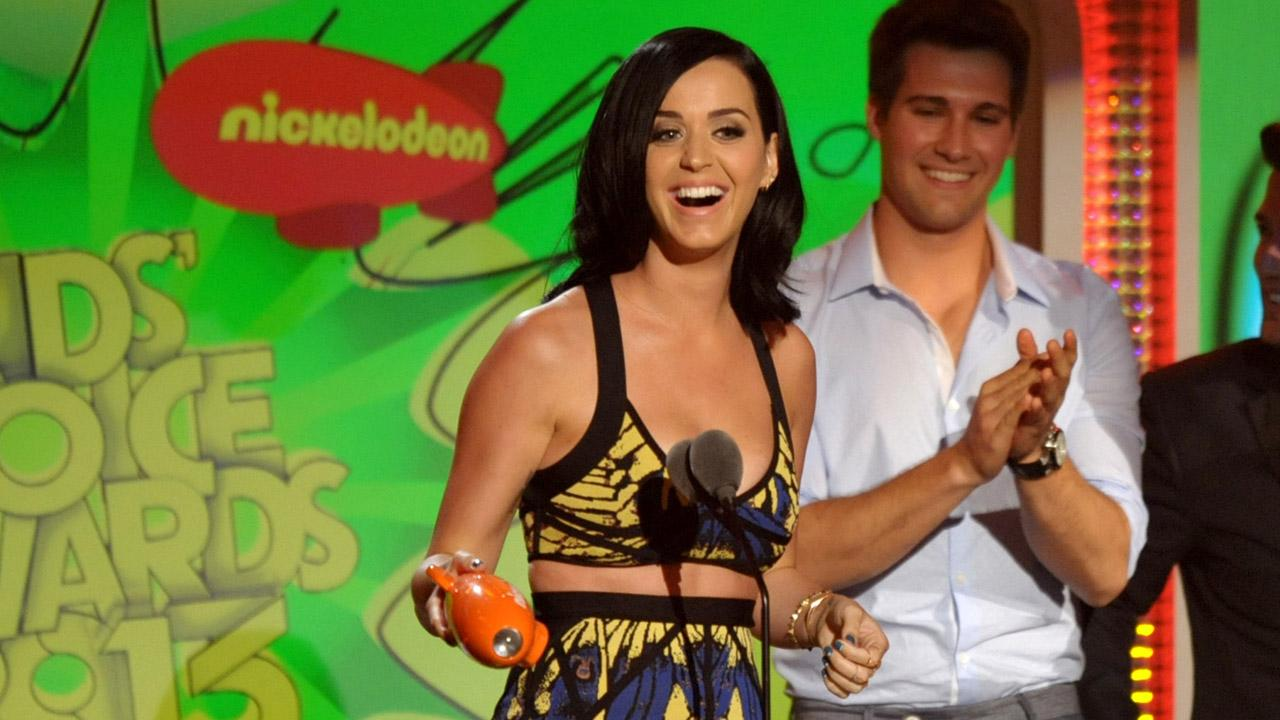 Katy Perry accepts the award for favorite female singer at the 26th annual Nickelodeons Kids Choice Awards on Saturday, March 23, 2013, in Los Angeles.