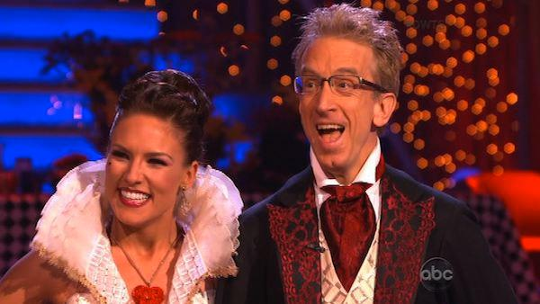 Actor and comedian Andy Dick and his partner Sharna Burgess appear on week 2 of Dancing With The Stars, which aired on March 25, 2013. - Provided courtesy of ABC