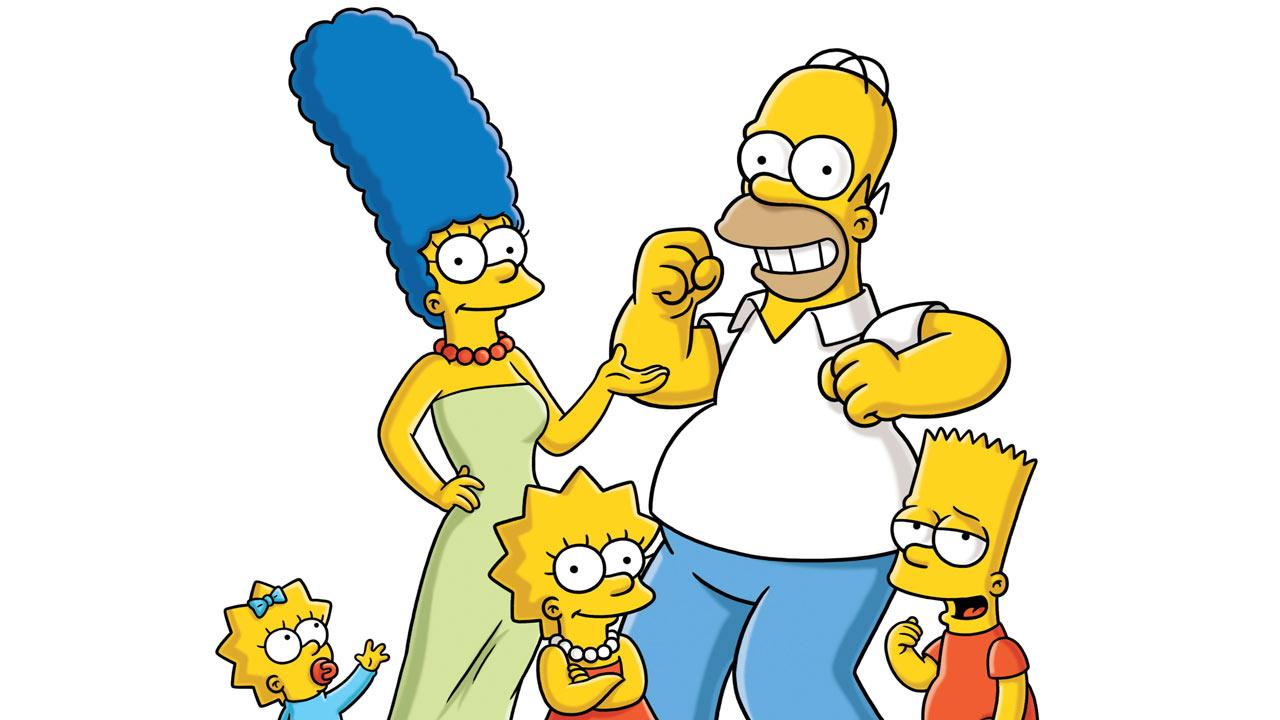 Characters from The Simpsons appear in a 2009 promotional photo.