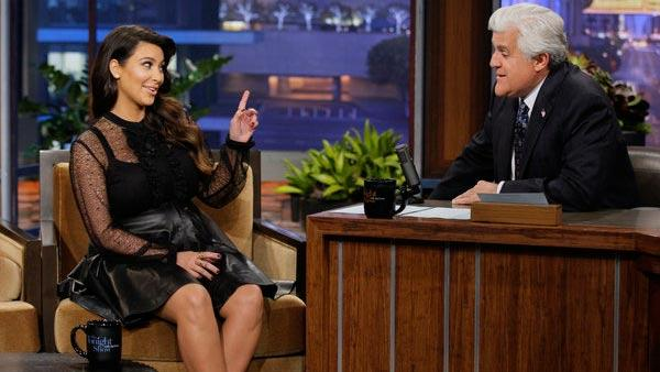 Kim Kardashian appears on The Tonight Show with Jay Leno on March 28, 2013. - Provided courtesy of NBC