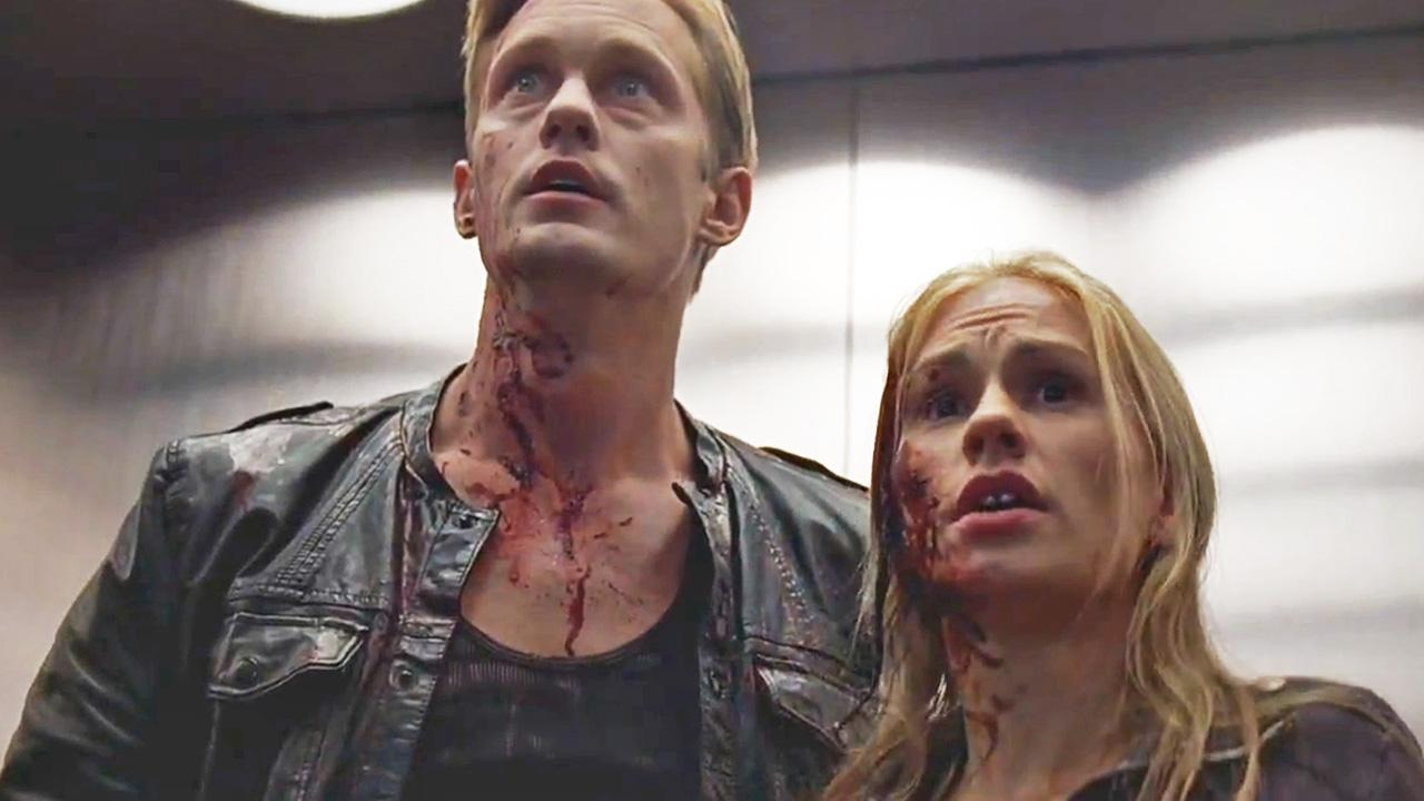 Anna Paquin and Steven Moyer appear in a scene from the upcoming season of True Blood.