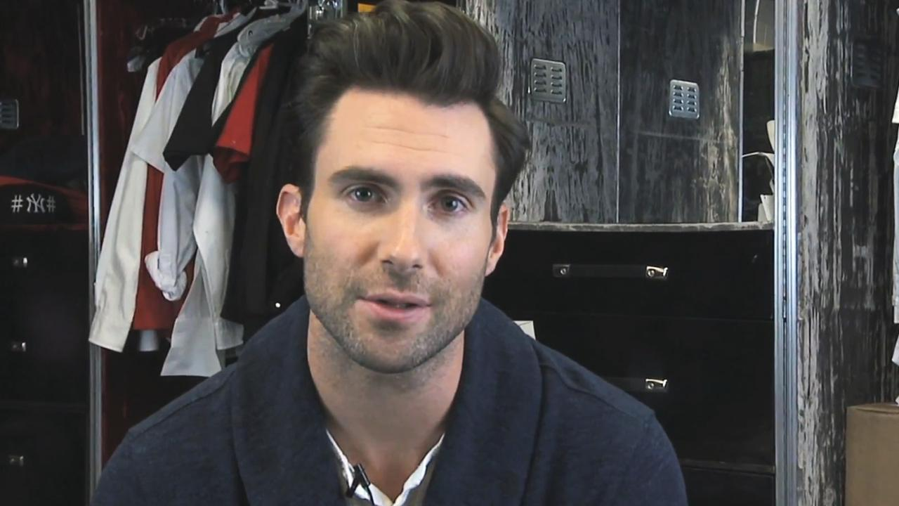 Adam Levine appears in an image from a Maroon 5 YouTube video from April 1, 2013.