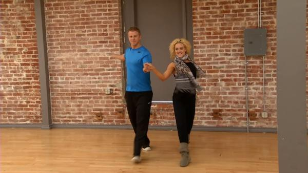 'Dancing With The Stars' contestant Sean Lowe of 'The Bachelor' and Peta Murgatroyd rehearse for the show's 'Prom Night' episode, airing on April 1, 2013.