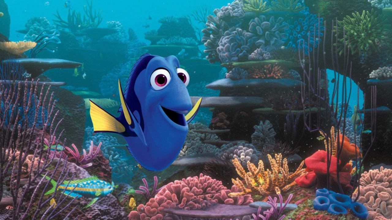 A publicity image for the 2013 Walt Disney Company - Pixar movie Finding Dory.