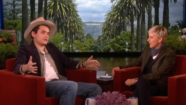John Mayer appears with Ellen DeGeneres on The Ellen DeGeneres Show on April 1, 2013. - Provided courtesy of Warner Bros. Television