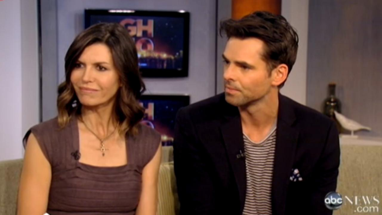 Fiola Hughes and Jason Thompson appear in a still from their 50th anniversary interview for General Hospital.