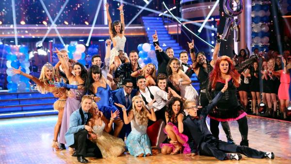 The cast of Dancing With The Stars appear in a photo from the group prom dance on April 1, 2013. - Provided courtesy of ABC