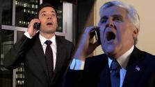 Jay Leno and Jimmy Fallon star in a parody video of Tonight to address rumors that NBC plans to have Fallon replace Leno as host of The Tonight Show. - Provided courtesy of OTRC