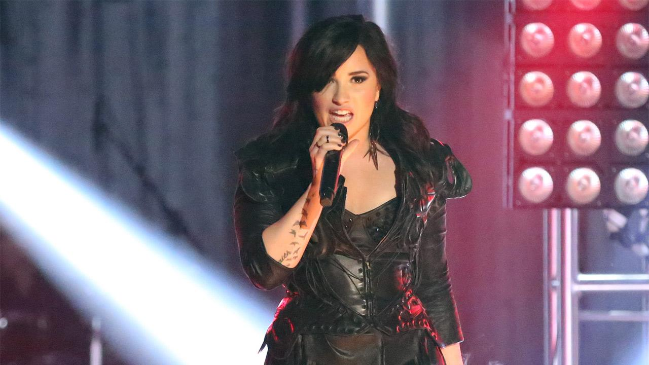 Demi Lovato performs on ABCs Dancing With The Stars on April 2, 2013.
