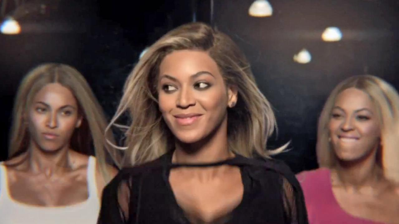 Beyonce appears in a still from her April 2013 Pepsi commercial Mirrors.