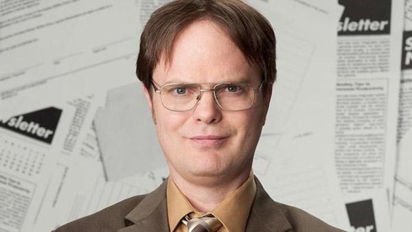 Rainn Wilson appears in a promotional photo for 'The Office.'