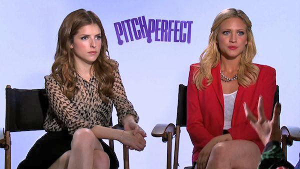 Anna Kendrick and Brittany Snow appear in an interview to promote their upcoming 2012 film, 'Pitch Perfect.'