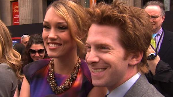 Seth Green and his wife, Clare Grant talk to OnTheRedCarpet.com at the Hollywood premiere of 'Mars Needs Moms.'