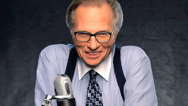 Larry King appears in an undated photo from the CNN website.