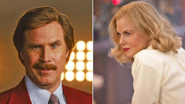 Will Ferrell appears in a still from the 2013 teaser for Anchorman 2. / Nicole Kidman appears in a scene from the 2012 made for TV movie Hemingway & Gellhorn. - Provided courtesy of Paramount Pictures / HBO