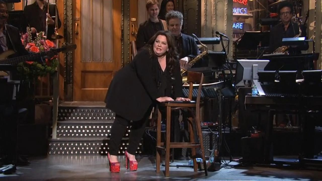 Melissa McCarthy appears on the April 6, 2013 episode of Saturday Night Live.