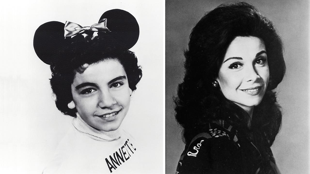 Annette Funicello appears as a child in an undated publicity photo for The Mickey Mouse Club. / Annette Funicello appears as an adult in an undated publicity photo.