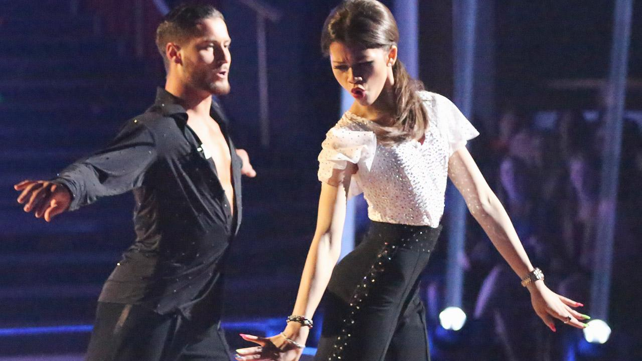 Zendaya Coleman and partner Val Chmerkovskiy appear on week 4 of season 16 of Dancing With The Stars, which aired on April 8, 2013. <span class=meta>(Adam Taylor)</span>