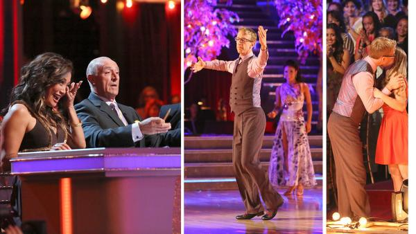 Carrie Ann Inaba tears up after Andy Dick dances for his daughter (pictured right) on week 4 of season 16 of Dancing With The Stars, which aired on April 8, 2013. - Provided courtesy of ABC / Adam Taylor