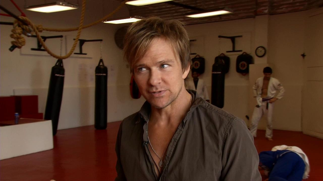 Sean Patrick Flanery talks to OTRC.com host Rachel Smith in April 2013 at his martial arts studio in Hollywood about season 8 of Showtimes Dexter, which premieres on June 30, 2013.