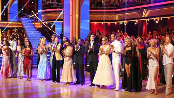 The cast of Dancing With The Stars appear in a photo from the fourth week of the show on April 8, 2013. - Provided courtesy of ABC