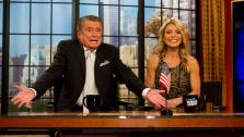 Regis Philbin and Kelly Ripa appear on Regis farewell episode of LIVE! with Regis and Kelly on Nov. 18, 2011. - Provided courtesy of AP / Kathy Willens / Charles Sykes