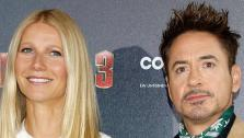 Gwyneth Paltrow and Robert Downey Jr. attend the Iron Man 3 photo call at Hotel Bayerischer Hof in Munich, Germany on April 12, 2013. - Provided courtesy of Walt Disney Studios