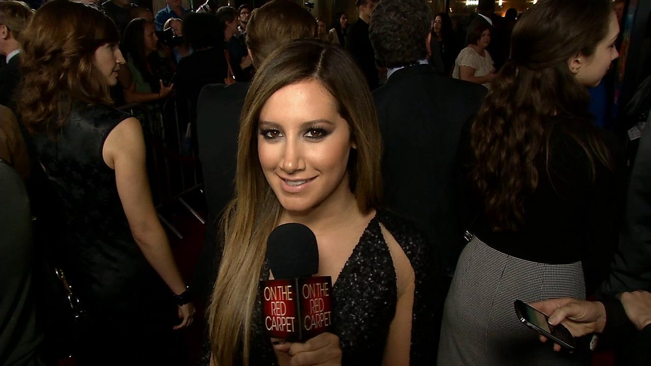 Ashley Tisdale talks to OTRC.com at the Scary Movie 5 premiere in Los Angeles on April 11, 2013.