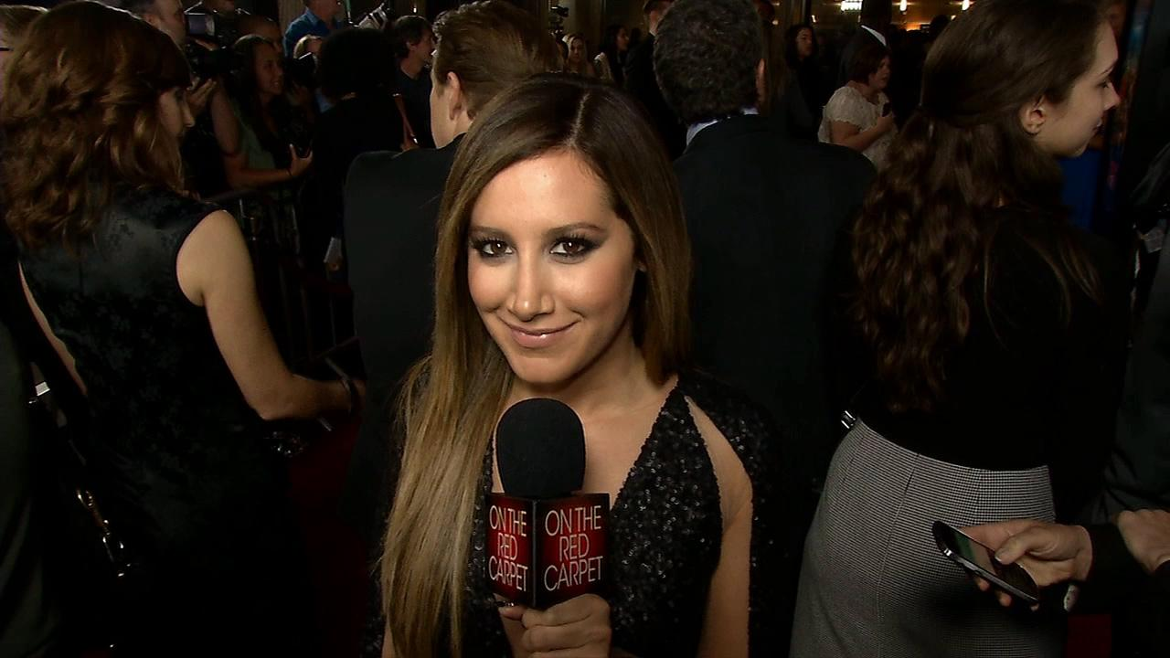 Ashley Tisdale talks to OTRC.com at the Scary Movie 5 premiere in Los Angeles n April 11, 2013.