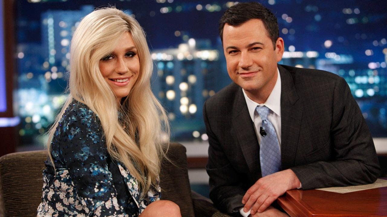 Kesha appears on Jimmy Kimmel Live on April 11, 2013.