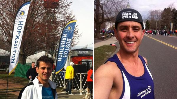 Joey McIntyre posted this photo of himself at the Boston Marathon on Twitter on April 15, 2013, hours before explosions ripped through the finish line. He was unhurt. - Provided courtesy of twitter.com/joeymcintyre/status/323791905261498368 / pic.twitter.com/ydXwf11aEf / twitter.com/joeymcintyre/status/323803382823387136/photo/1 / pic.twitter.com/YfdMdkMKuz