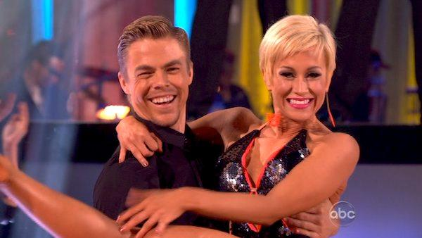 Derek Hough and his partner Kellie Pickler appear on week 5 of season 16 of Dancing With The Stars, which aired on April 15, 2013. - Provided courtesy of ABC