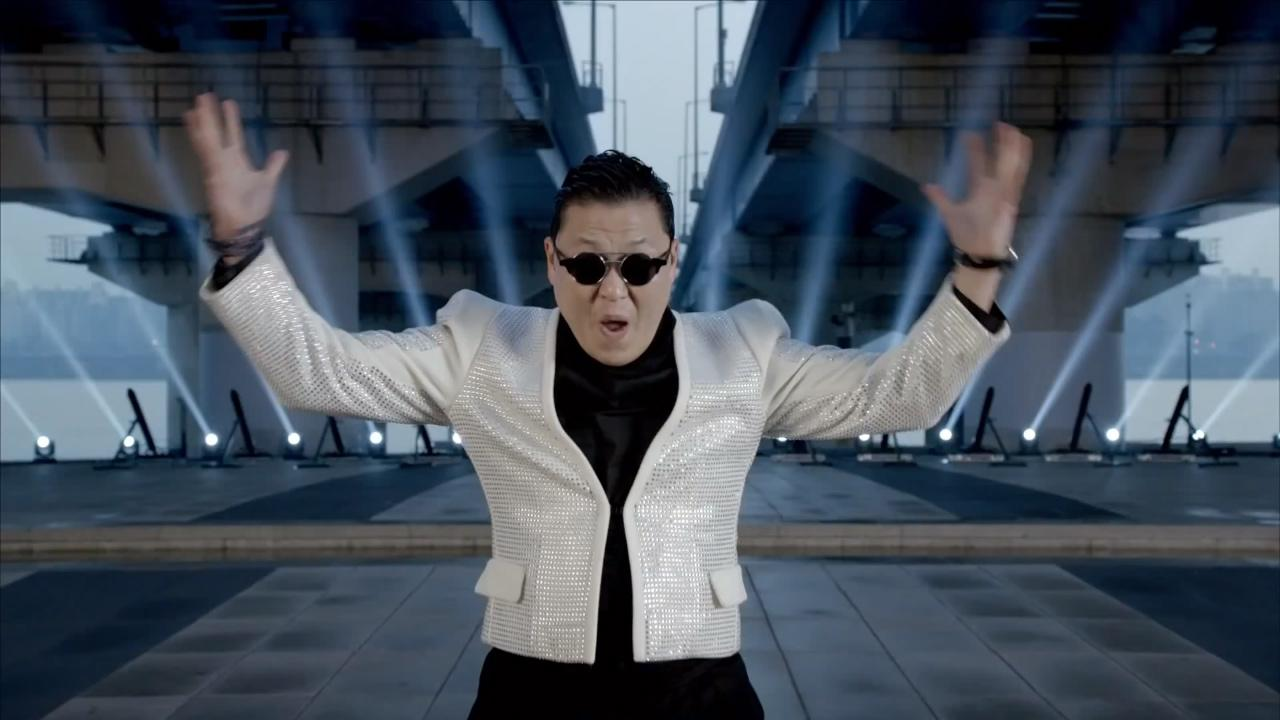PSY appears in a still from his music video Gentleman which was released on Friday, April 12, 2013.