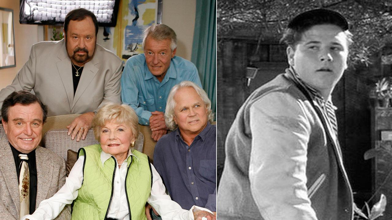 The cast of Leave It To Beaver poses for a photo as they are reunited on Thursday, Sept. 27, 2007, to celebrate the 50th anniversary of the show. / Frank Bank appears in a photo from the 1950s television series Leave it to Beaver.