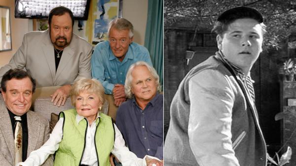 The cast of Leave It To Beaver poses for a photo as they are reunited on Thursday, Sept. 27, 2007, to celebrate the 50th anniversary of the show. / Frank Bank appears in a photo from the 1950s television series Leave it to Beaver. - Provided courtesy of MCA / Universal / AP / Damian Dovarganes