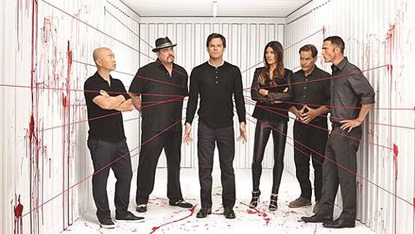 The cast of Dexter season 8 is seen in a publicity photo released on April 18, 2013. - Provided courtesy of Showtime